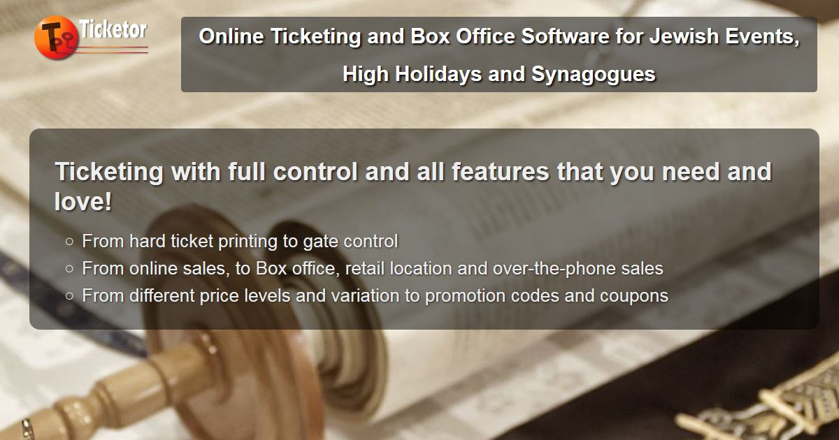 Online ticketing and box office solution for Jewish high holidays rosh hashana yom kippur synagogues temples.jpg