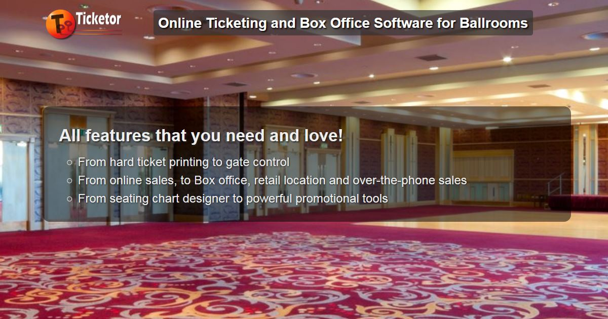 Implement box-office system for the Ballroom you manage