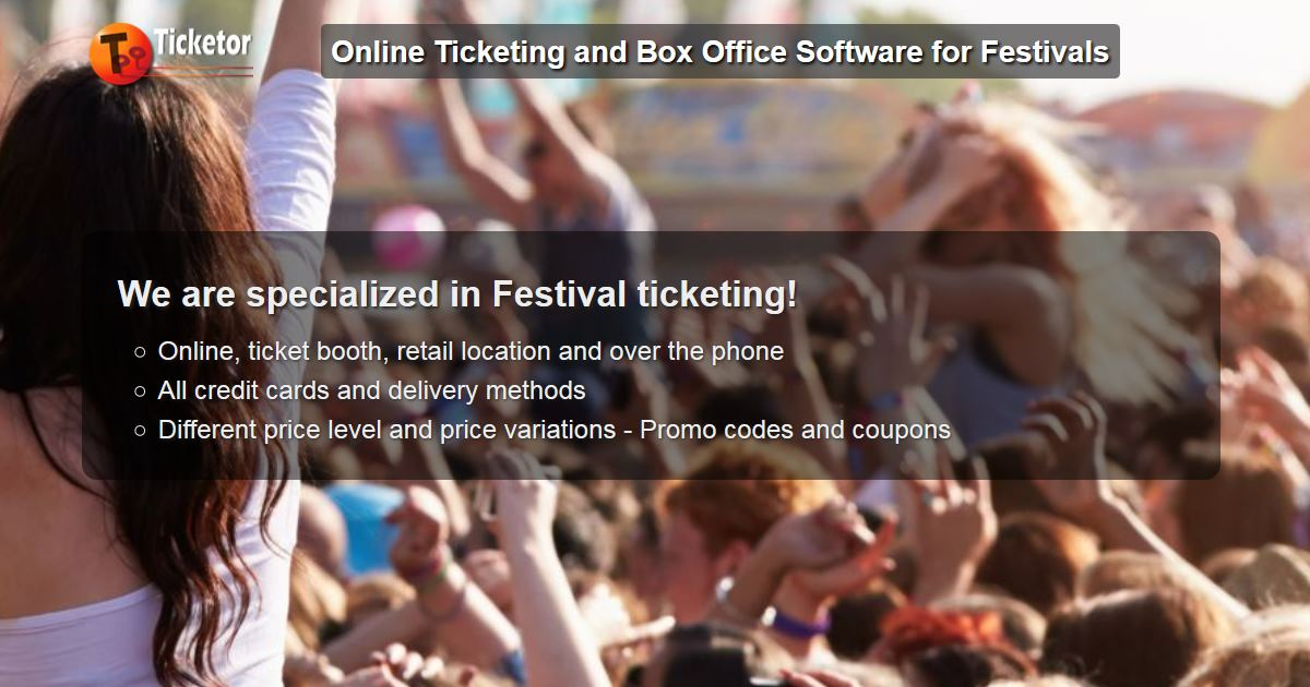 Ticketor - Online ticket sale and box office solution for festivals and carnivals