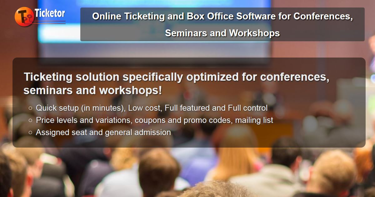 ticketing software for Conferences Seminars and Workshops political professional religious events.jpg