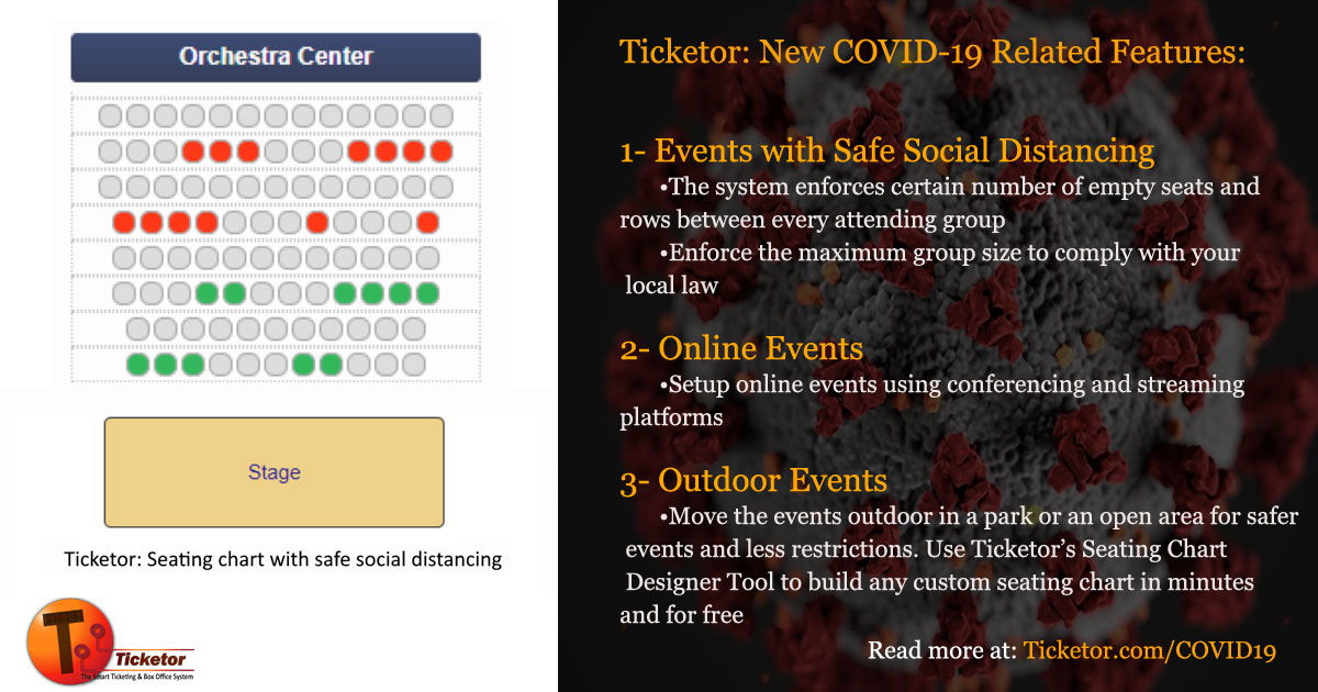 Events with social-distancing - Online events - Outdoor events due to covid19