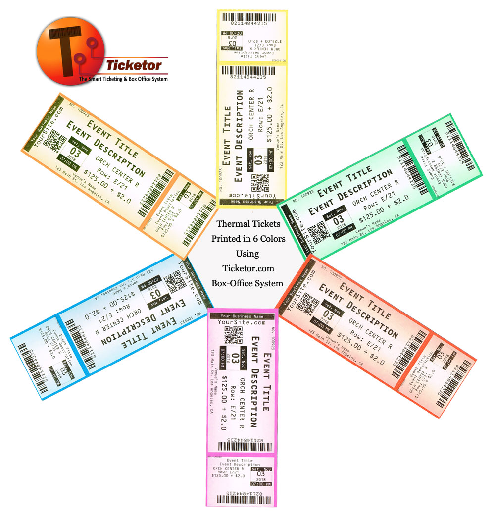 Printed thermal tickets
