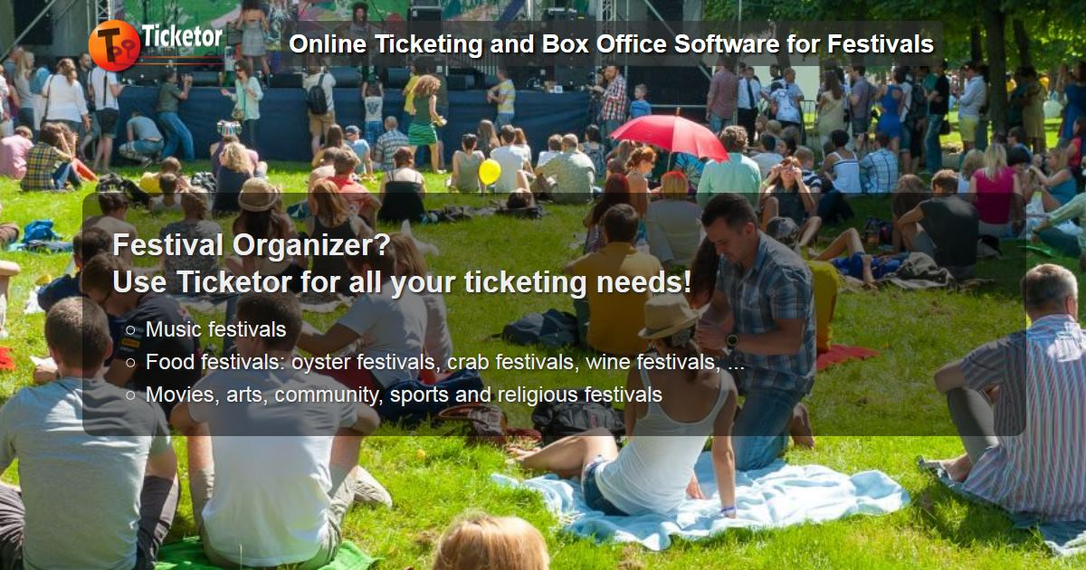 Ticketor: Festival Ticketing and Box Office Software