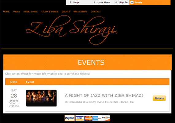 Ziba Shirazi- Artist Website