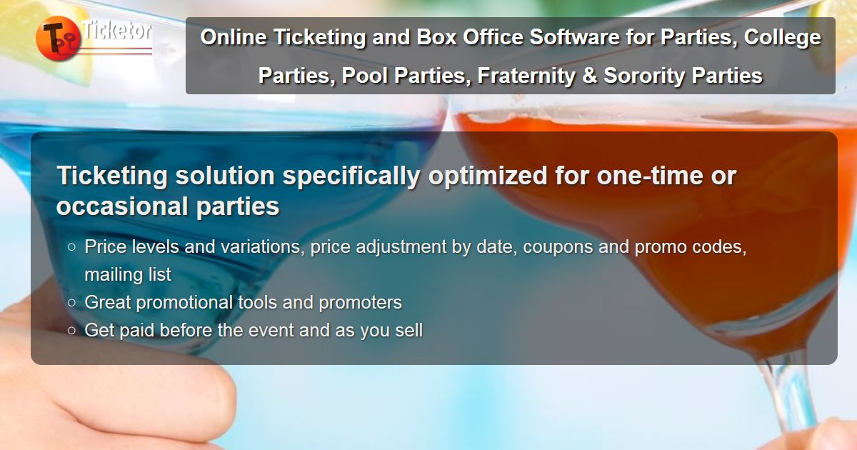 Online Ticketing and Box Office Software for Parties